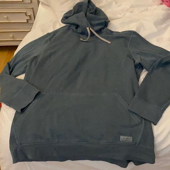 Men's like new hooded green sweatshirt XLT